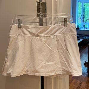 Lulu lemon white tennis skirt